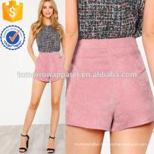 Pocket Side Corduroy Shorts Manufacture Wholesale Fashion Women Apparel (TA3024B)