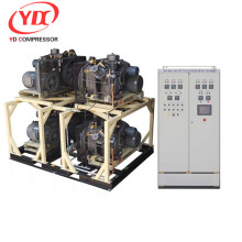 High pressure piston air compressor chemical industry Booster 175CFM 508PSI 25HP