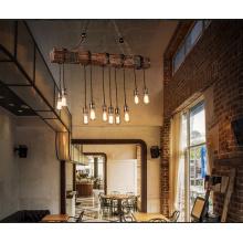 American style wood pendant light industrial loft chandelier hanging lamp