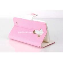 Vente chaude Etui de téléphone portable pour le portefeuille en cuir pour la couverture de téléphone LG G3