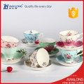 Breve osso xícaras de café da china e saucers xícara de chá de porcelana