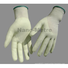 NMSAFETY 13g HPPE liner 3/4 coated water-based pu anti cut work glove