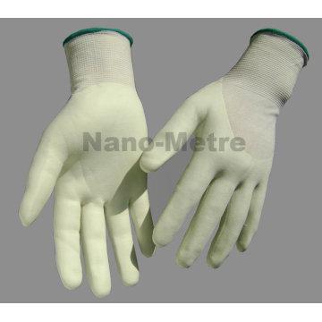 NMSAFETY 13 г ПЭВД, покрытая оболочкой, 3/4 воды-на основе ПУ анти-вырезать рабочая перчатка