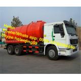 HOWO RHD 16m3 tank capacity sewage suction truck