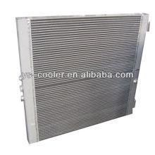 Intercambiador de calor de la ingeniería mecánica / refrigerador de aceite del aire de la aleta de la placa