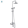 KL-01 professional chromed brass bathroom accessories with round hand shower wall mounted bath lifting shower