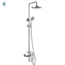 KR-05 producto latón montado en la pared rociadores cromados de la ducha de la superficie, cartucho de cerámica con regaderas rociadores de ducha