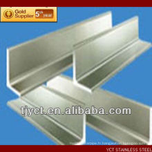 Fournisseur de barre d'angle d'acier inoxydable 316