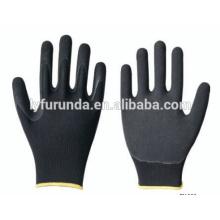 Luvas de nylon revestidas com nitrilo na palma