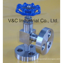 Angle Type Needle Valve with Flange End