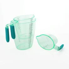 3PCS Nesting Stackable Plastic Measuring Cups With Spout