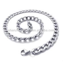 Großhandel verschiedene Größe Classic für Herrenschmuck Zubehör Edelstahl Halskette Halskette