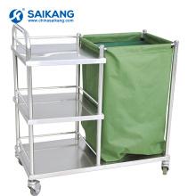 SKH027 Chariot de soins infirmiers d'hôpital de transport d'acier inoxydable