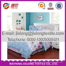 tela tejida de malla de algodón estampada para sábana en weifang