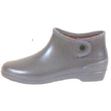 Women's Dark Gray Ankle Pvc Rain Boots