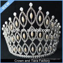 Coroa caixa coroa eletrônica tv coroa royal chair pérola e diamante tiaras