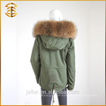 2017 Winter New Army Green Lady Jacken Frauen Real Pelz Parka