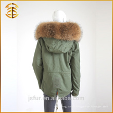 Women Winter Multi Color Customized Ladies Coats Thick Real Fur Parka