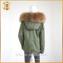 Женщины Зимние Многоцветные Подгонянные Дамские Пальто Толстая Реальная Меховая Парка