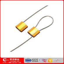 Selo do cabo do recipiente de carga do fechamento de Alu com a cópia sequencial do laser