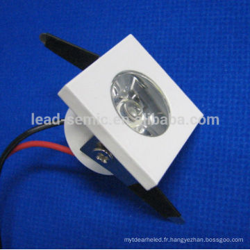 Boîtier blanc mini 1w dimmable led downlight