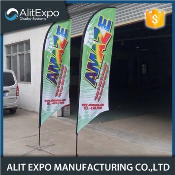 Portable custom logo decorative printing flags banner