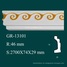 Produtos ambientais decoração de casa PU cornijas desenhos para teto