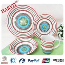 Juego de cena pintado a mano de cerámica de 16 piezas de cerámica