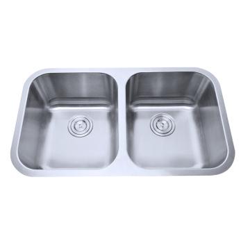 Dissipador Undermounted da bacia dobro de aço inoxidável 50/50 de Cupc para a cozinha