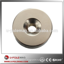 High Quality Strong Ring Loop Countersunk Magnet with Hole 6mm