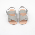 Wholesale Kids Rubber Soled Leather Sandals