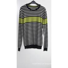 Homens 100% Cashmere manga comprida em torno do pescoço Knitting Sweater