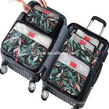 6 Conjunto de Cubos de Embalagem, Compressão de Viagem Organizadores de Bagagem com Saco de Lavanderia Saco de Sapatos para Bagagem de Mão, Mala e Mochila