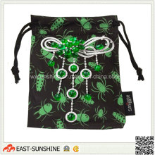 Woven Label Drawstring Jewellry Package Pouch (DH-MC0307)