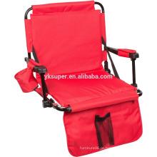 Cadeira dobrável para chão ao ar livre portátil