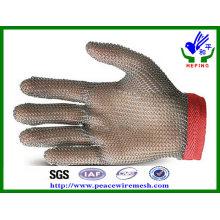 Luvas de malha de anel de aço inoxidável para corte (R-BXGST)
