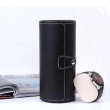 Cuero de PU negro para la decoración de la caja del reloj