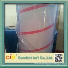 Filme transparente de PVC transparente