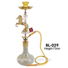 Vidro atacado hookah shisha, narguilé de vidro desobstruído belo cachimbo de água