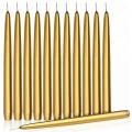Classic Handmade Golden Thin Taper Candle