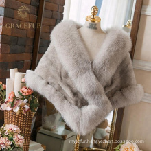 China supplier Online Shopping Cheap highly stylish mink fur shawl