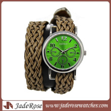 Fashion Woman Wrist Watch Weave Band Watch (RA1161)