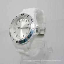 Novo relógio de moda de plástico Japão movimento plástico relógio Sj072-8