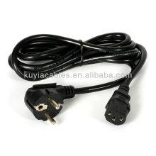 Полный медный кабель питания 3-проводного шнура Шнур питания Адаптер EU Plug