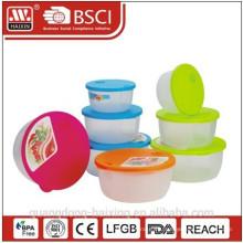 Cuatro nuevos colores redondo microondas alimentos Container(3pcs)
