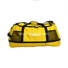 Folded Yellow Color Duffle Bag in Big Capacity