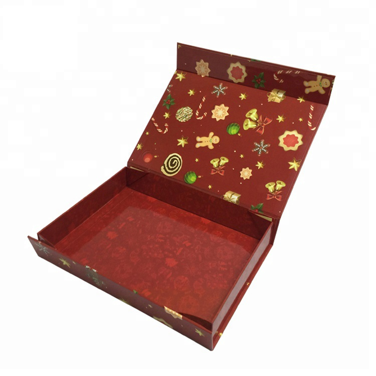 Custom Luxury Booked Shaped Christmas Paper Box