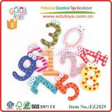 No tóxico aprendizaje temprano de madera juguetes número juego divertido número colorido de aprendizaje de madera números magnéticos juguetes para niños
