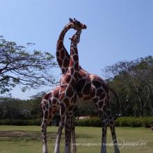 décoration de jardin en plein air grandes sculptures de girafe en métal