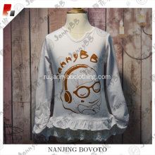 White JannyBB long fashion T-shirt suitable